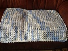 Blue crocheted pram blanket by Happilyevercrafts on Etsy, Handmade Gifts, Knit Crochet, Buy And Sell, Blanket, Rugs, Knitting, Children, Blue, Crafts