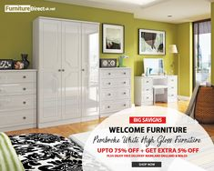Buy high quality Ready Assembled wooden bedroom, living room and home furniture online from Welcome Furniture with Fast Delivery at Furniture Direct UK. Bedroom Furniture For Sale, Home Furniture Online, Furniture Direct, White Furniture, Wooden Bedroom, Dressing Tables, Bedside Cabinet, White Bedding, Uk Shop