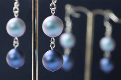 Iridescent Blue Swarovski Earrings