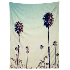 Bree Madden California Palm Trees Tapestry | DENY Designs Home Accessories