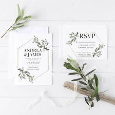 modern wedding invitation #weddinginvitespaper