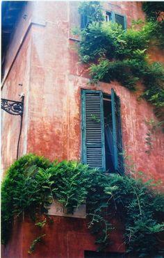 Trastevere window, Rome