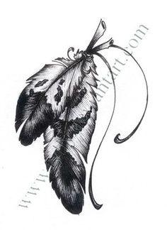 native american tattoos for women | tattoo design picture by Jerez Tattoo: native,american,indian,feather | Look around!