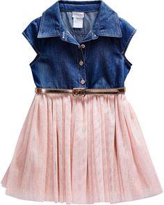92f8a2aa11 Young Land Short Sleeve Fitted Sleeve Tutu Dress - Preschool Girls Toddler Girl  Dresses