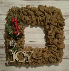 Check out this item in my Etsy shop https://www.etsy.com/listing/385370518/square-winter-holiday-burlap-wreath