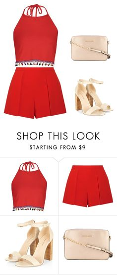 """""""natal 1"""" by caroltips ❤ liked on Polyvore featuring Boohoo, Alice + Olivia and MICHAEL Michael Kors"""