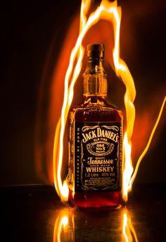 Jack Daniels on fire as usual by javier blank, via 500px