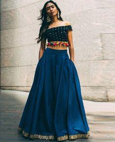 Try New Styles for Navratri Outfits 2017 - Lehenga, Choli, Kurtis, Indian Fashion Trends, Ethnic Fashion, Indian Attire, Indian Ethnic Wear, Indian Dresses, Indian Outfits, Indian Skirt, Indian Lehenga, Lehenga Choli