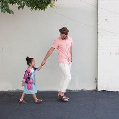 Lead me to the weekend. Well, we're working all weekend, but when you love what you do... It's always fun. Photo by @heyjesshi of @gavinbeasley and daughter Madeleine (she's wearing @odetojeune @loveolivejuice and they're both in @birkenstockusa). #zooeymagazine