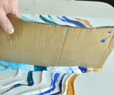 malen leinwand wellen pappe acryl farben