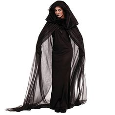 Fashionclubs Halloween Wicked Witch Cloak Cape Cosplay Costumes With Dress (M) - Brought to you by Avarsha.com