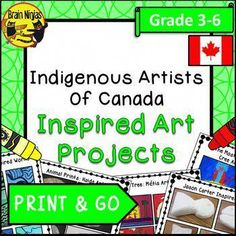 Aboriginal Artists of Canada Inspired Art Projects Aboriginal Art For Kids, Aboriginal Education, Indigenous Education, Aboriginal Artists, Indigenous Art, Art Education, Classroom Art Projects, Cool Art Projects, Art Classroom