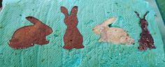 FAIRYKNITS: Kuchen mit Hasenmotiv Happy Easter, Hare, Cake