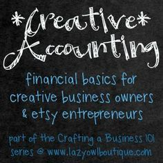 accounting for your creative business - tracking expenses bookkeeping Career Advice, Career Tips