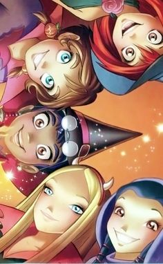 All the girls from W.I.T.C.H., Disney this is bringing me back to middle school!