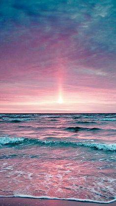 Rose pink sunset and blue and purple ocean colors. – Jérôme DURAND – Rose pink sunset and blue and purple ocean colors. Nature Wallpaper, Wallpaper Backgrounds, Beach Wallpaper, Wallpaper Designs, Iphone Backgrounds, Iphone Wallpapers, Wallpaper Pink And Blue, Purple Wallpaper Iphone, Pretty Backgrounds