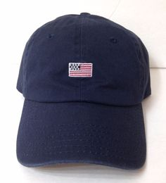 85c6f6df0f1  24 SMALL AMERICAN FLAG HAT Navy Blue Lightweight Relaxed Fit Dad Cap Men  Women