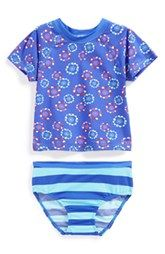 Tea Collection Rashguard Shirt & Bottoms (Baby Girls)