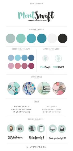 MintSwift Design Brand Style Board | Personal branding |Brand Design | Brand…