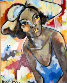 Girl in Blue Top by Bekah Ash