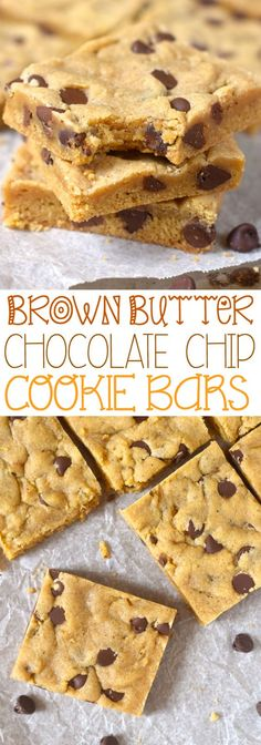 These Brown Butter Chocolate Chip Cookie Bars are insanely good! Like you cut off a slice and then suddenly the whole pan is gone good!: