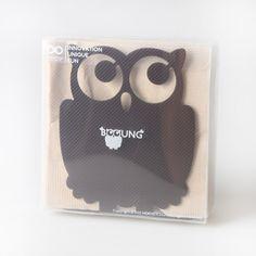 Booung Napkin Holder / Glossy brown  #homedecor #interior #design #napkinholder #후스디자인 #인테리어 #집꾸미기 #홈데코 #디자인소품 #냅킨꽂이 #크리스마스#dining #owl #design #부엉이