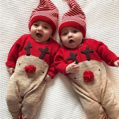 25d524bec60 New Year Christmas Jumpsuit Outfits Clothes Sweater Deer Character Toddler Boys  Girls Baby Knitted Romper Knitted Cotton BFOF
