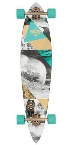Dusters Curl Longboard Complete Skateboard - Teal/Gold - 39.0in WANT!!!!!!!!!!!!!!!!!!!!!!!