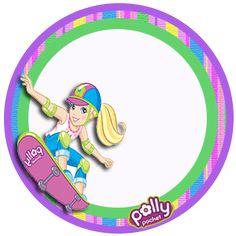 "Convites Digitais Simples: Mini Kit de Aniversário ""Polly Pocket"""