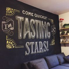 """""""Chalkboard collaboration with my favorite intern @laurenronquillo of her…"""