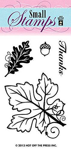 Hot Off The Press Acrylic Stamps, 2-Inch by 3.25-Inch, Leaves *** Be sure to check out this awesome product.