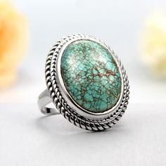 Sterling Silver Tibetan Turquoise Ring