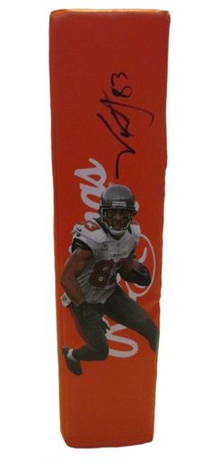Vincent Jackson signed Tampa Bay Buccaneers Rawlings football touchdown end zone pylon w/ proof photo.  Proof photo of Vincent signing will be included with your purchase along with a COA issued from Southwestconnection-Memorabilia, guaranteeing the item to pass authentication services from PSA/DNA or JSA. Free USPS shipping. www.AutographedwithProof.com is your one stop for autographed collectibles from Tampa sports teams. Check back with us often, as we are always obtaining new items.