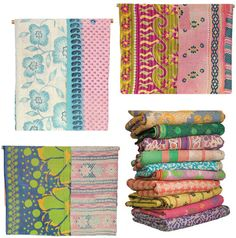 Kantha Quilts by decor8, via Flickr