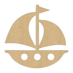 Sail Boat Shape Laser Cut Unfinished Wood Shapes, Craft Shapes, Gift Tags, Ornaments #48 All Sizes