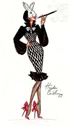'Welcome To Wonderland' Fashion Illustration by Hayden Williams