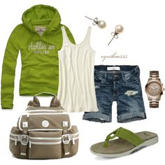 College Days by cynthia335 on Polyvore featuring Hollister Co., Old Navy, Abercrombie & Fitch, Eastland, Tory Burch, GUESS and J.Crew