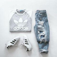 Imagem de adidas, outfit, and fashion