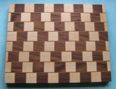 My third cutting board - Cafe Wall Illusion - by BritBoxmaker @ LumberJocks.com ~ woodworking community
