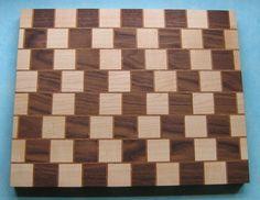 My third cutting board - Cafe Wall Illusion - by BritBoxmaker @ LumberJocks.com ~ woodworking community