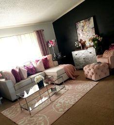 Cheap Home Decor .Cheap Home Decor Glam Living Room, Living Room Decor Cozy, Home And Living, Bedroom Decor, Home Interior, Interior Design, First Apartment Decorating, House Rooms, Home Decor Inspiration