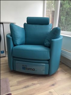 Superieur We Used Blue Leather (col 65) For Our Ever Popular Rocking Recliner.