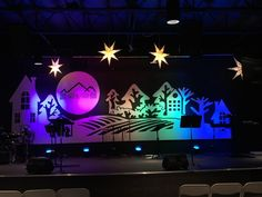Two-Tone Christmas from Victory Life Church in Fruita, Co   Church Stage Design Ideas