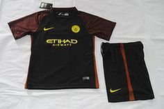 Premier 16/17 Manchester city away kids kit. STONES GUNDOGAN soccer jersey