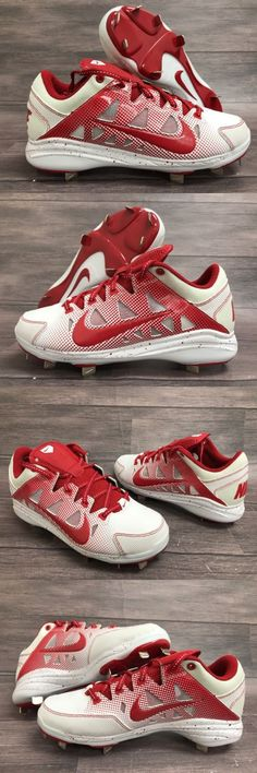 Womens 159060: Nike Air Hyperdiamond Pro Size 5.5 White Red Softball Cleats Metal 684693 -> BUY IT NOW ONLY: $34.95 on eBay!