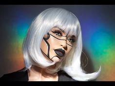Bicentennial Robot Halloween Makeup | iluvsarahii - YouTube