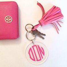 acrylic monogram keychain | shop dandy llc.