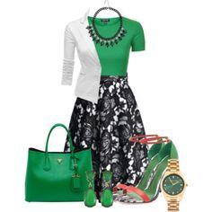 Black Lace Mid Skirt