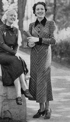 1936 lovely ladies #womensfashionvintageglamour