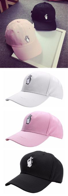 Men Women Hand Love Adjustable Hat / Hip Hop Kpop Curved Strapback Baseball Cap